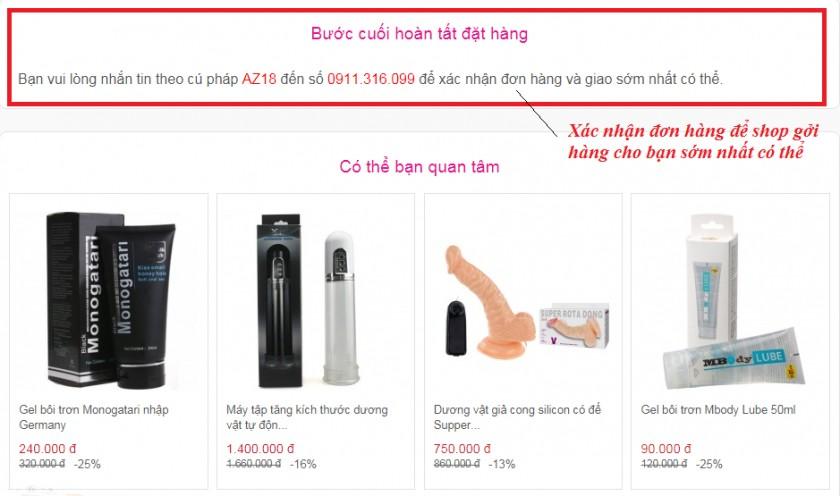 Phương pháp đặt mua sex toys tại Yeu365.com 4
